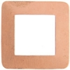 Metal Blank 24ga Copper Washer-square 30mm With Hole9pcs